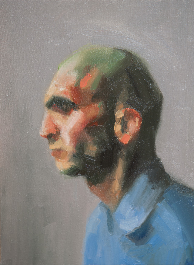 salman khoshroo bald painting